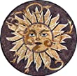 Marble Mosaic Sun Medallion Art Tile Floor / Wall, 40