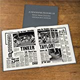 Personalised WEST HAM UNITED Football Newspaper Book Gift For Christmas/Birthday