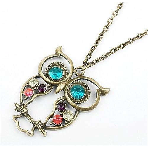 Jewel Owl Necklace