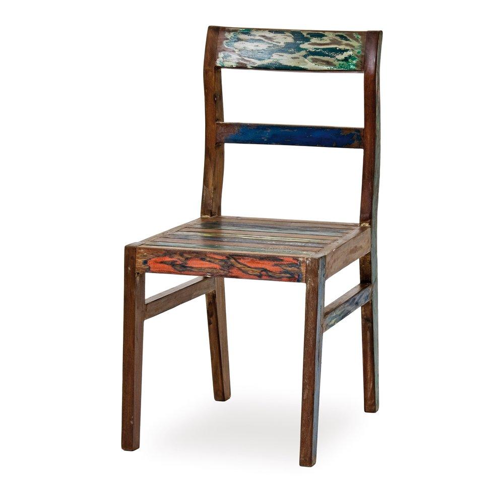 "Belardo Seriata Fish-Boat Stuhl, ca. 46 x 46 x 89 cm, aus ""Recycled Boat Wood"", Unikat kaufen"