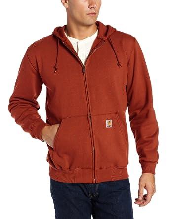 Carhartt Men's  Heavyweight Hooded Zip Front Sweatshirt, Russet Brown, Medium