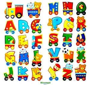 Adesivi murali lettere alfabeto cm 60 x 32 per cameretta for Adesivi murali x bambini