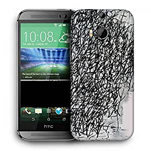 Snoogg Graffiti Incase Printed Protective Phone Back Case Cover For HTC One M8