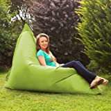 BAZAAR BAG ® - Giant Beanbag LIME GREEN - Indoor & Outdoor Bean Bag - MASSIVE 180x140cm - GREAT for Garden