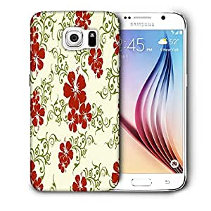 Snoogg Orange And Blue Rangolies Printed Protective Phone Back Case Cover For Samsung Galaxy S6 / S IIIIII