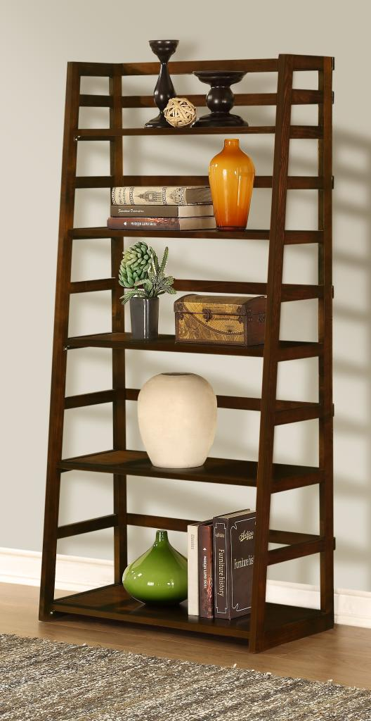 Simpli Home Acadian Ladder Shelf Bookcase