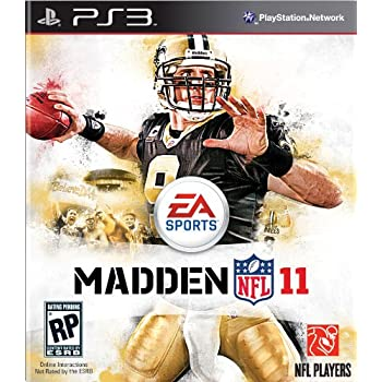 drew brees PS3 video game for madden 11 - brees cover
