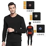 FERNIDA Heated Clothes Men/Woman Heating Long Sleeve Thermal Underwear Adjustable Warmth Slimming T Shirt - S/M (Color: T-shirt, Tamaño: Small / Medium)
