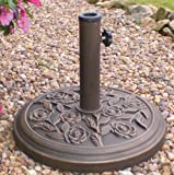 PARASOL BASE, CAST IRON EFFECT, 9KG PBASE By KINGFISHER & Best Price Square