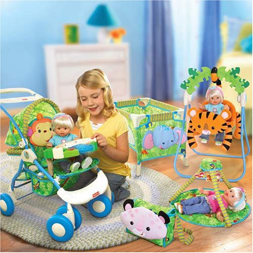 Fisher-price All-in-1 Doll Travel System Deluxe Rainforest Playset