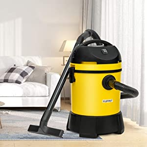 KUPPET Wet/Dry Vacuum Cleaner, Vac Pond/Home Dual Use, Portable Shop Vacuum with Attachments, Powerful 16Kpa Suction, Strong Big Tank in 30L, 1400W(Yellow). (Color: Yellow, Tamaño: 30L-1)