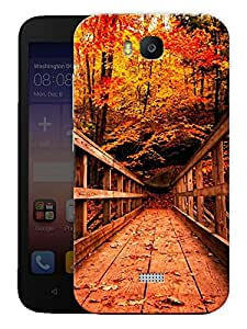 "Humor Gang Vintage Wooden Bridge Printed Designer Mobile Back Cover For ""Huawei Honor Bee"" (3D, Matte, Premium Quality Snap On Case)"