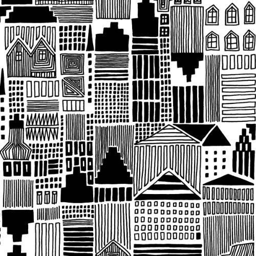 marimekko-finnish-designer-onnea-etsimassai-black-white-cityscape-luxury-traditional-paper-table-nap