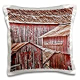 3dRose USA, California, Cambria. View of Old, Weathered Barn.-Pillow Case, 16 by 16