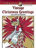 Vintage Christmas Greetings: Coloring Book