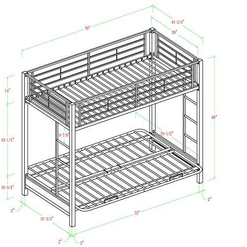 metal futon bunk bed instructions