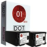 2x DOT-01 Brand Canon HF G40 Batteries for Canon HF G40 Camera and Canon HFG40 Battery Bundle for Canon BP828 BP-828