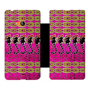 Phone Candy Designer Flip Cover with hi-res printed Vinyl sticker wrap-around for Microsoft Lumia 540