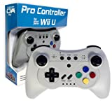 Old Skool Wireless Pro Controller Game Pad for Nintendo Wii U - Grey (Color: Grey)