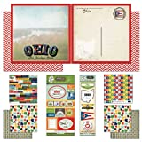 Scrapbook Customs Themed Paper and Stickers Scrapbook Kit, Ohio Vintage