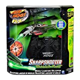 No target is safe from the pin point accuracy of the missile-launching Sharpshooter. Take aim and blast your enemies with the push of a button. Use your arsenal of plastic missiles to attack stationary targets or engage in full on air-to-air combat - Just steady, aim, fire. With Steady Fly Technology you can engage targets like never before. Turn any room into the ultimate battleground with the Air Hogs Sharpshooter.