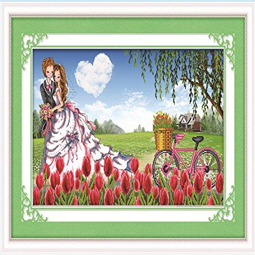 91 52 Diy craft 5d round diamond painting Romantic cherry tree diamond  embroidered cross stitch knitting needles home decor 6080 5d57275323fb