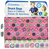 Bumkins Reusable Snack Bag, Love Birds and Bloom, 2-count