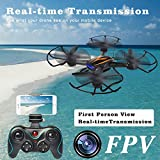 PYS-F181-RC-Quadcopter-with-720p-HD-Camera-Wifi-FPV-Drone-with-Altitude-Hold-Function-RTF-Helicopter-with-Portable-Aluminum-Case-4-Batteries-4in1-Charger-Explosion-proof-Battery-Safe-Bag-Black