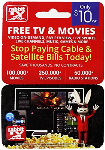 Rabbit TV Plus Gift Card (1 Year Subscription - No USB Needed) - $10