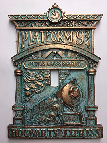 Hogwarts 9-3/4 (Harry Potter) Light Switch Cover (Aged Patina) (Custom Light Switch Cover compare prices)