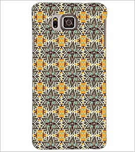 PrintDhaba Pattern D-5208 Back Case Cover for SAMSUNG GALAXY ALPHA (Multi-Coloured)