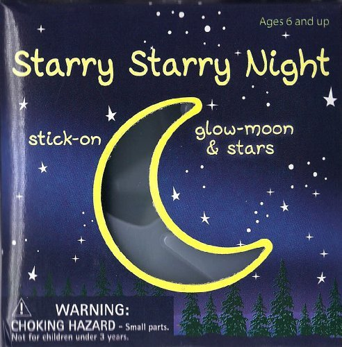 Starry Starry Night - 24 Stick-on Glow Moon & Stars