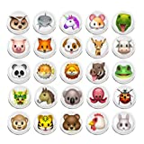 100 Pieces Creative Fashion Steel Thumb Tacks Push Pins Decorative Different Patterns for Photos Wall, Maps, Bulletin Board or Corkboards (Animal Expression) (Color: Animal Expression)