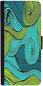 Snoogg Vector Abstract Hand Drawn Waves Texturedesigner Protective Flip Case ...