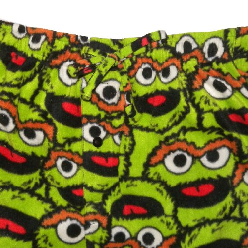 Sesame Street Oscar The Grouch Mens Footed Pajama Pants on oscar sesame street onesie