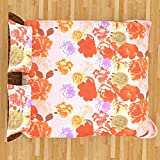 ITrend India 200 CT Polycotton Double Bedsheet With 2 Pillow Covers (Floral, 225 Cm X 225 Cm X 1 Cm, Multicolor)