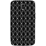 Circular Black Pattern Hard Polycarbonate Designer Back Case Cover For Samsung Galaxy Mega 6.3 I9200 :: Samsung Galaxy Mega 6.3 Sgh-I527