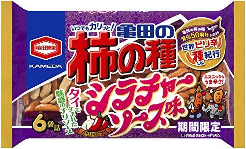 亀田の柿の種シラチャーソース味 6袋詰