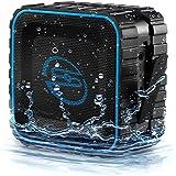[Wasserdicht] deleyCON SOUNDSTERS - rocktank mini BT - mini Bluetooth Lautsprecher Box Kabellos Wasserdicht - Schwarz - für Handy & Co - OUTDOOR