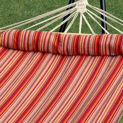 Bliss Hammocks BH-404F Oversized Hammock With Spreader Bar and Pillow, Toasted Almond