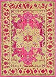 Modern Traditional 7-Feet by 10-Feet (7' x 10') Barcelona Pink Contemporary Area Rug