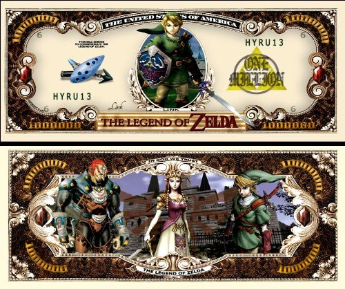 Legend of Zelda Million Dollar Bill (10/$4.99)