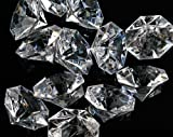 Pkg of 24 Clear 25 Carat Acrylic Diamonds with Super Big Bling – Vase Fillers or Wedding Bridal Shower Party Table Confetti Decorations