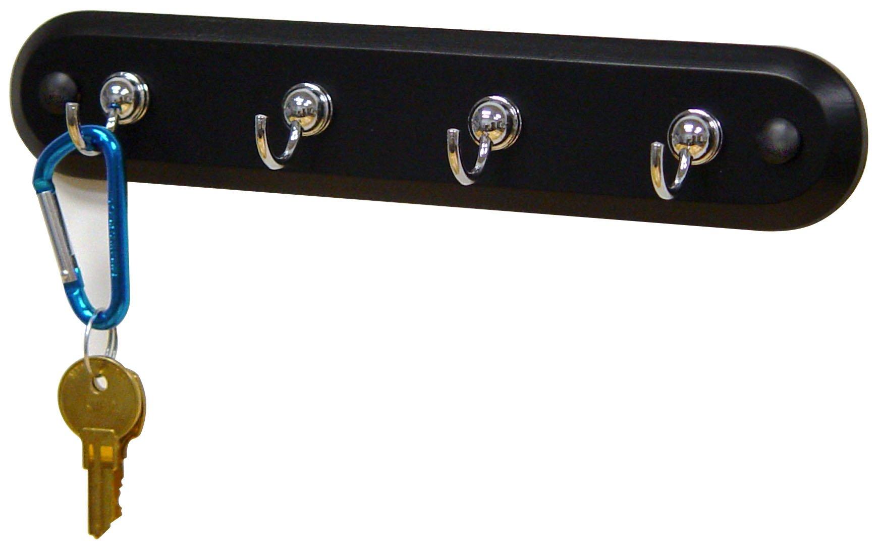 New Key Holder Rack Wall Mount 4 Keys Hooks 8 Inch Wide