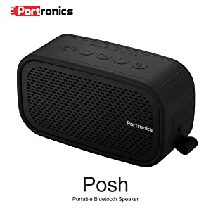 Portronics POR-567 Posh wireless Portable Bluetooth speaker ( Black )
