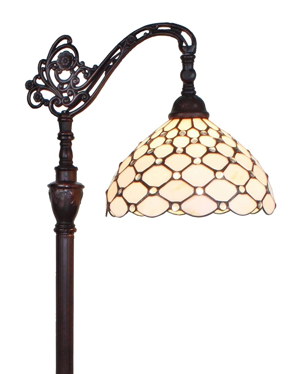 Amora Lighting AM028FL12 Tiffany Style Jeweled Reading Floor Lamp 62 In 0