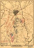Map Poster - Gettysburg and vicinity showing the position of the troops July ...