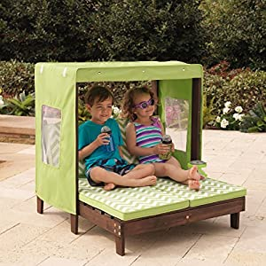 KidKraft Outdoor Double Chaise Lounge Chair with Canopy from KidKraft