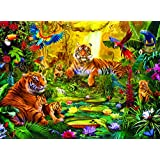 Buffalo Games Signature Series: Tiger Family in the Jungle - 1000 Piece Jigsaw Puzzle by Buffalo Games