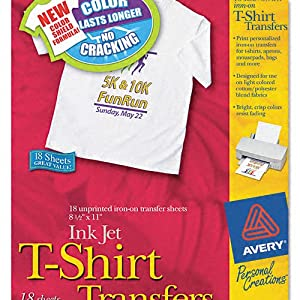 Iron-On T-Shirt Transfers, 18 Transfers, 8-1/2 quot;x11 quot;